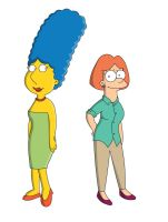 Marge Griffin Lois Simpson by adsta