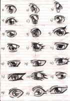 a ton of eyes by dalloola1996