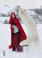 Red Ridding Hood and the Wolf by Screammoria