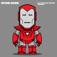 Iron Man Toy Design - Silver Centurion Armor by Yeti-Labs