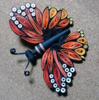 Quilled Butterfly by JanKov