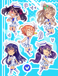 Stickers - Love Live by elefluff