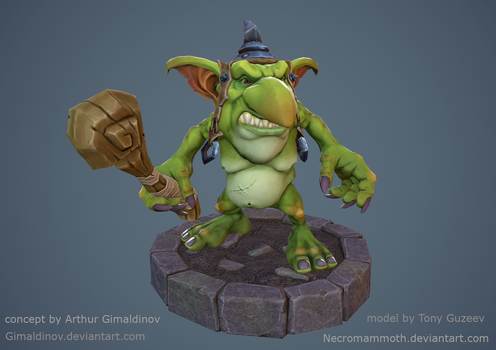 Goblin Lowpoly by Necromammoth