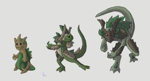 Barkarmor Pokemon by werepenguin
