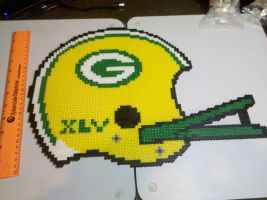 Green Bay Helmet Perler Beads by vudumonkey25