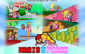 Mario X Peach - Couple Poster by FaisalAden