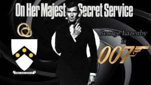 George Lazenby - 007 wp by SWFan1977