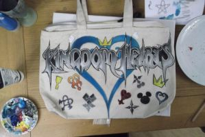 Kingdom Hearts bag (completed) by BlueStripedRenulian