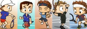 Tennis Players * 5 by 32929wt