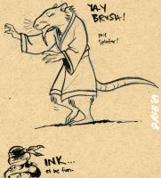 Ninja Rat in Ink by Kobb