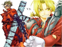 Vash VS Ed by magicgamer