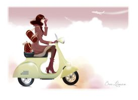 scooter girl by BreeLeman