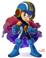 Anon Commission: Megaman EXE by SynDuo