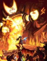 Reign of Elysian VS. Ragnaros by pulyx