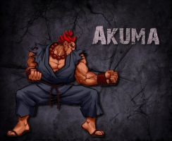 Akuma Street Fighter Wallpaper by 1kamz