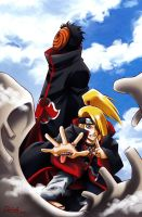 Deidara and Tobi by DeEtta