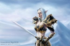 Elf for Lineage II fans by IcedWingsArt