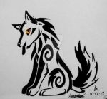 Playful Golden Wolf Design by XcubX