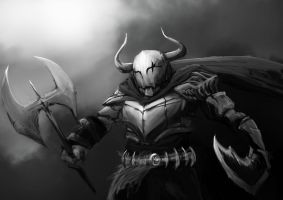 Barbaric Knight by wacalac