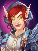 Blizzcon Badge: Aewynn by Kayley