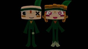 Tearaway Iota and Atoi LBP2 by Music-Lovette123