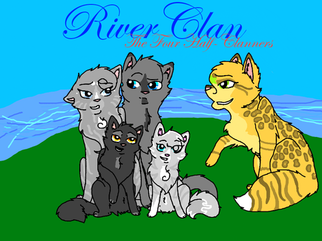 Four Half Clan Cats #whathappenswhenIgetbored by Leafdrift