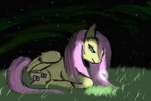 Fluttershy and firefly by crownvetchponylover9