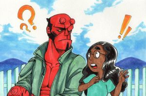 Hellboy and Connie by FFiamgoku