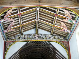 old church roof ,inside by Sceptre63