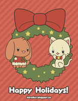 Holiday Card Project 2014 by KiiroiKat