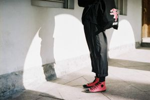 pink shoes by ChoAngel