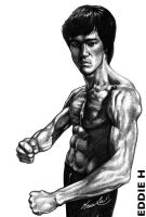 Bruce Lee by EddieHolly