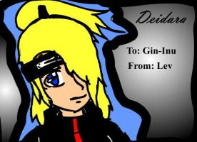 Deidara - Present For Inu by shiroi-tategami
