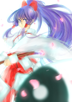 shrine maiden by Finiell