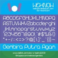 gembira font by weknow by weknow