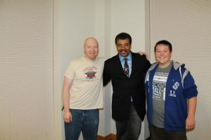 Me, Neil deGrasse Tyson, and my nephew by Ghostexorcist