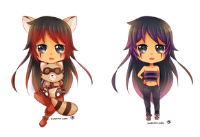 -- Commission for KnightLok : Chibi Kiya Mi -- by Kurama-chan