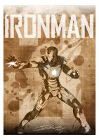 Iron Man 3 Poster Brown by Chris-Dewaine