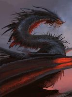 Dragon Concept Sketch by EricWoods