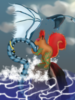 When the earth kisses the air by LadyEarthDragoness