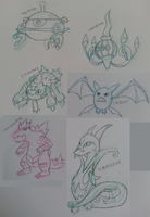 Pokemon Sketch Dump by RynnLight