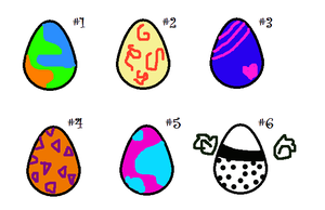 Eggies 1 by FoxxyBatmanAdopts