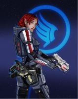 Commander Shepard by blankcanvas007