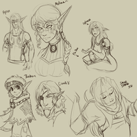 Sketches for friends :3 by CrewOfTheBloodyDawn