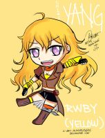 RWBY Chibi Yang (Yellow) by I-AM-HUMMINGSKY