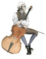 Maturin playing the Cello by The-Arcadia-Relm