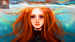 Red-haired girl by Linekotsi