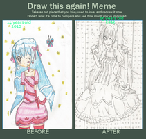 before and after~ hatsune miku by Chibii-chii