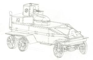 Steam Powered Armored Car by Imperator-Zor