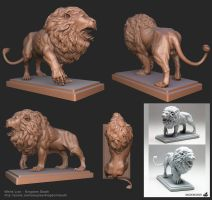 Kingdom Death : White Lion by Anuxinamoon